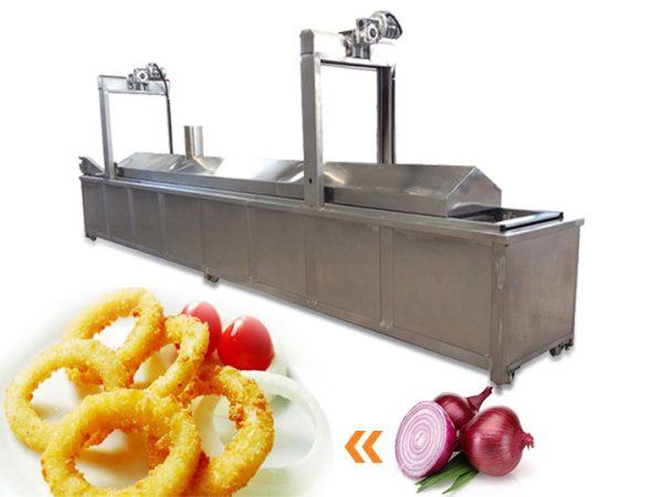 industrial onion frying